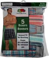 Fruit of the Loom Men's Relaxed Fit No Bunching 5 Boxers (5-Pack Value)