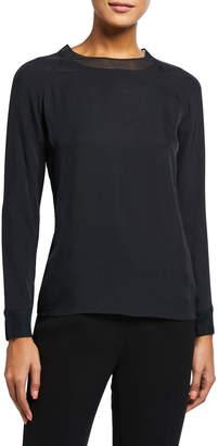 Vince Rib-Trim Long-Sleeve T-Shirt