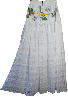 Stella Jean White Cotton Skirts