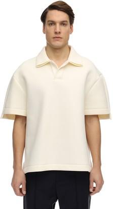 Maison Margiela Oversized Cotton Scuba Piquet Polo Shirt