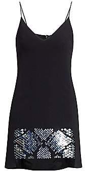 David Koma Women's Plexi Embellished Hem Camisole Mini Dress