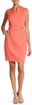 Tahari V-Neck Shift Dress (Petite)