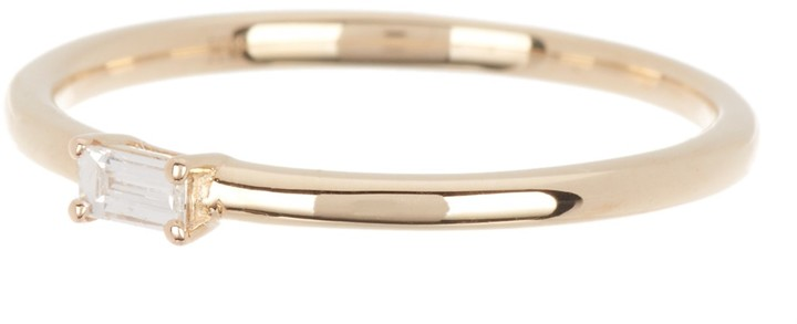 Ron Hami 14K Yellow Gold Diamond Baguette Ring - 0.07 ctw