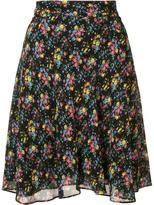 Saint Laurent floral print skirt - women - Silk/Viscose - 36