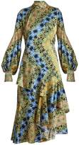 Peter Pilotto High-neck floral-print silk dress