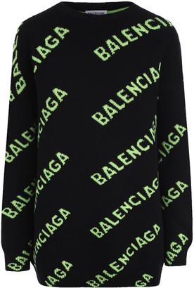 Balenciaga All Over Logo Jumper