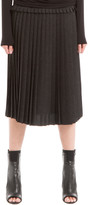 Max Studio Crepe Pleated Midi Skirt