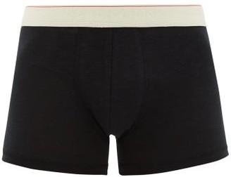 Hemen Biarritz - Marti Organic Cotton-blend Boxer Briefs - Mens - Black