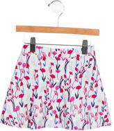 Oscar de la Renta Girls' Floral Print Corduroy Skirt w/ Tags
