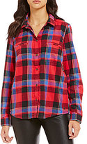 Roxy Campay Button-Down Plaid Flannel Top