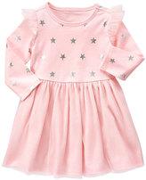 Gymboree Pink & Silver Star Tulle A-Line Dress - Infant & Toddler