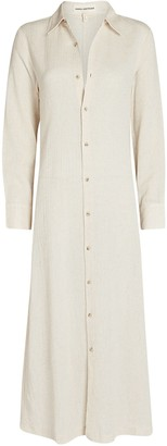 Mara Hoffman Cinzia Cotton-Linen Shirt Dress