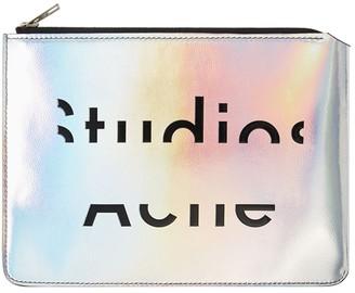Acne Studios Iridescent Zip Clutch