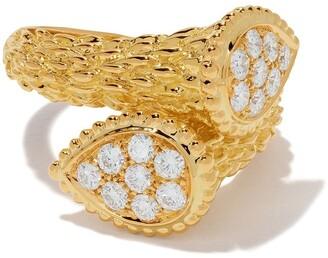 Boucheron 18kt yellow gold Diamond Serpent Boheme Toi et Moi motif S ring