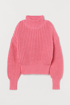 H&M Chunky-knit Sweater - Pink