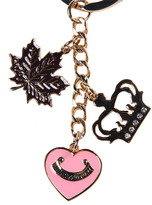Juicy Couture Accessories Gold Maple Leaf Keyring