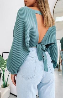 Beginning Boutique Aidy Knit Jumper Sage