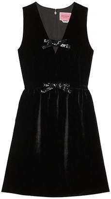 Kate Spade Sequin Bow Velvet Dress