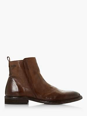 Bertie Cornfield Leather Ankle Boots, Dark Brown