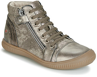 GBB RACHIDA girls's Shoes (High-top Trainers) in Gold
