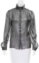 Jill Stuart Sheer Silk Blouse w/ Tags