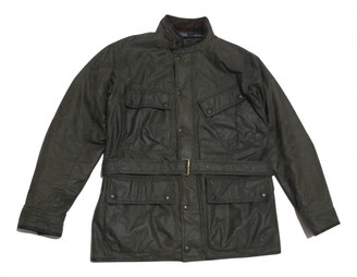 Polo Ralph Lauren Green Leather Jackets