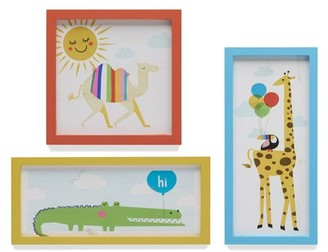 Day at the Zoo Set of 3 Framed Wall Art by Drew Barrymore Flower Kids