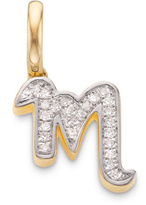 Monica Vinader Diamond Alphabet Pendant M