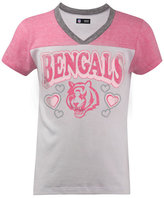 5th & Ocean Girls' Cincinnati Bengals Pink V-Neck T-Shirt