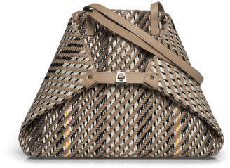 Akris AI Medium Soft Woven Shoulder Tote Bag