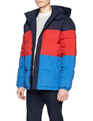 Original Penguin Men's Quilted Colour Block Puffer Jacket,X-Large