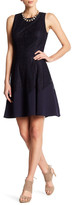 Anne Klein Lace Seamed Fit & Flare Dress