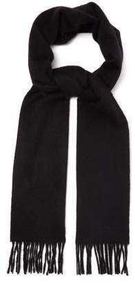 Paul Smith Fringed Cashmere Scarf - Mens - Black