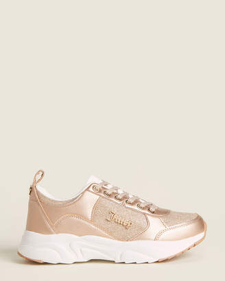 Juicy Couture Rose Gold Enchanter Glitter Low-Top Sneakers