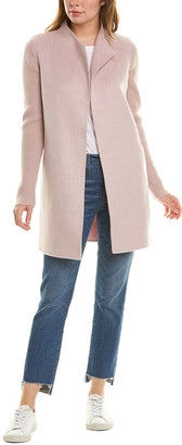 Forte Cashmere Rib Sleeve Wool & Cashmere-Blend Coat