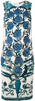 Roberto Cavalli rose print shift dress - women - Viscose - 40