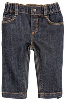 Petit Bateau Unisex baby five-pocket jeans in supple stretch denim