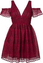 Self-Portrait Shea dress - women - Cotton/Polyester - 8