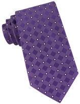MICHAEL Michael Kors Silk Geometric Grid Tie