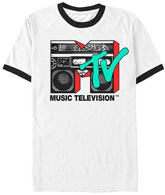 Fifth Sun Men's Tee Shirts wht - MTV White Boom Box Logo Tee - Men