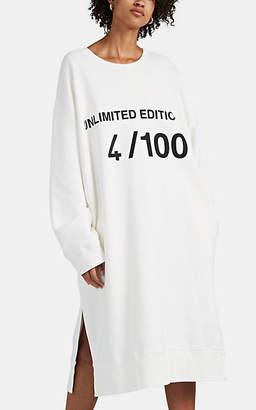 """MM6 MAISON MARGIELA Women's """"Unlimited Edition 4/100"""" Fleece Sweatshirt Dress - White"""