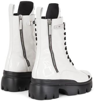Giuseppe Zanotti Patent Track Sole Boots