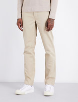 Officine Generale Regular-fit tapered cotton chinos