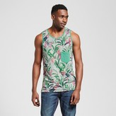 Mossimo Men's Vented Hem Tank with Pocket Tropical Print