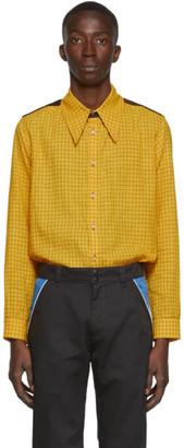 St Henri St-Henri SSENSE Exclusive Yellow Woody Shirt