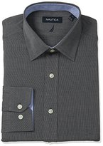 Nautica Men's Solid Shirt with Spread Collar