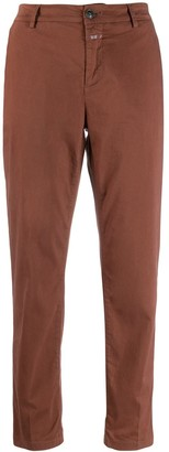 Closed straight-leg trousers