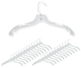 Honey-Can-Do 24-Pack Crystal Clear Dress Hangers