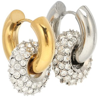 Timeless Pearly 24kt Gold-Plated Sterling Silver Hoop Earrings