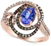 Effy Tanzanite Royalé by Tanzanite (1-1/8 ct. t.w.) and Diamond (5/8 ct. t.w.) Ring in 14k Rose Gold